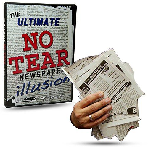 Magic Makers The Ultimate NO TEAR Newspaper Illusion Magic Training - Packs Flat Plays BIG! Illusion Magic Trick
