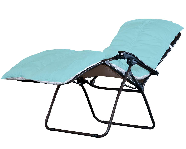Bedding Direct UK Mehrzweck-Sonnenliege mit Kissenauflage Schlafmatte, ideal für Festival-Besucher und Camping-Urlaub himmelblau