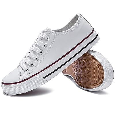 XRH Women's PU Leather Sneakers Fashion Low Top Casual Shoes | Fashion Sneakers