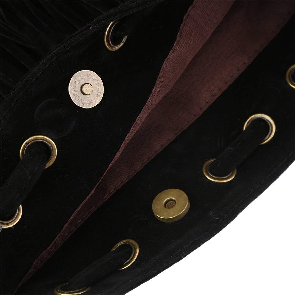 73JohnPol Bolso bandolera bandolera de gamuza de flecos de flecos de gamuza de flecos de gamuza Conveniente cord/ón con cord/ón bolsa de citas de compras etc negro