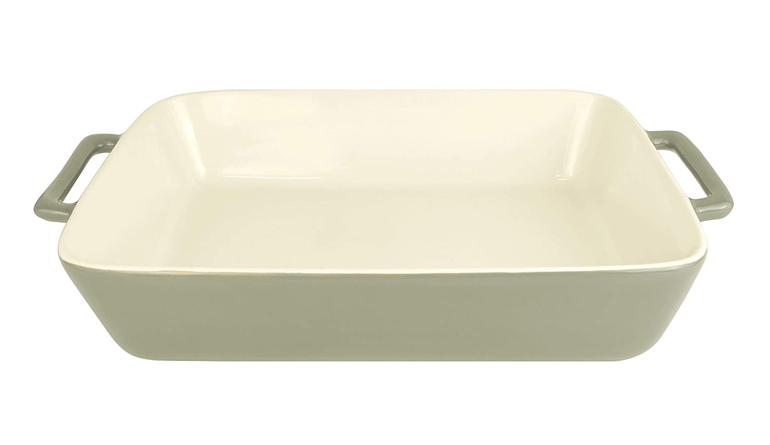 LE REGALO HW1224 Rectangular Stoneware Baking Dish, 13.5x8.25x2.5 White