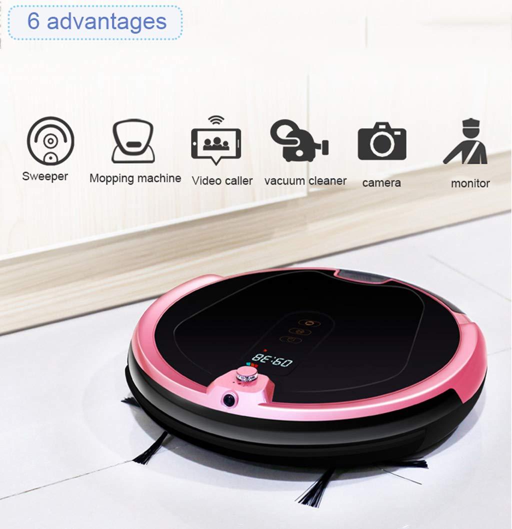 Aspirador doméstico / robot de barrido, succión grande de 2000Pa, planificación de giroscopio, control inteligente de la aplicación, aviso de voz, ...