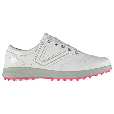 c4d88f35ba7 Official Slazenger Casual Ladies Golf Shoes White Spikeless Trainers  Footwear (UK5) (EU38)