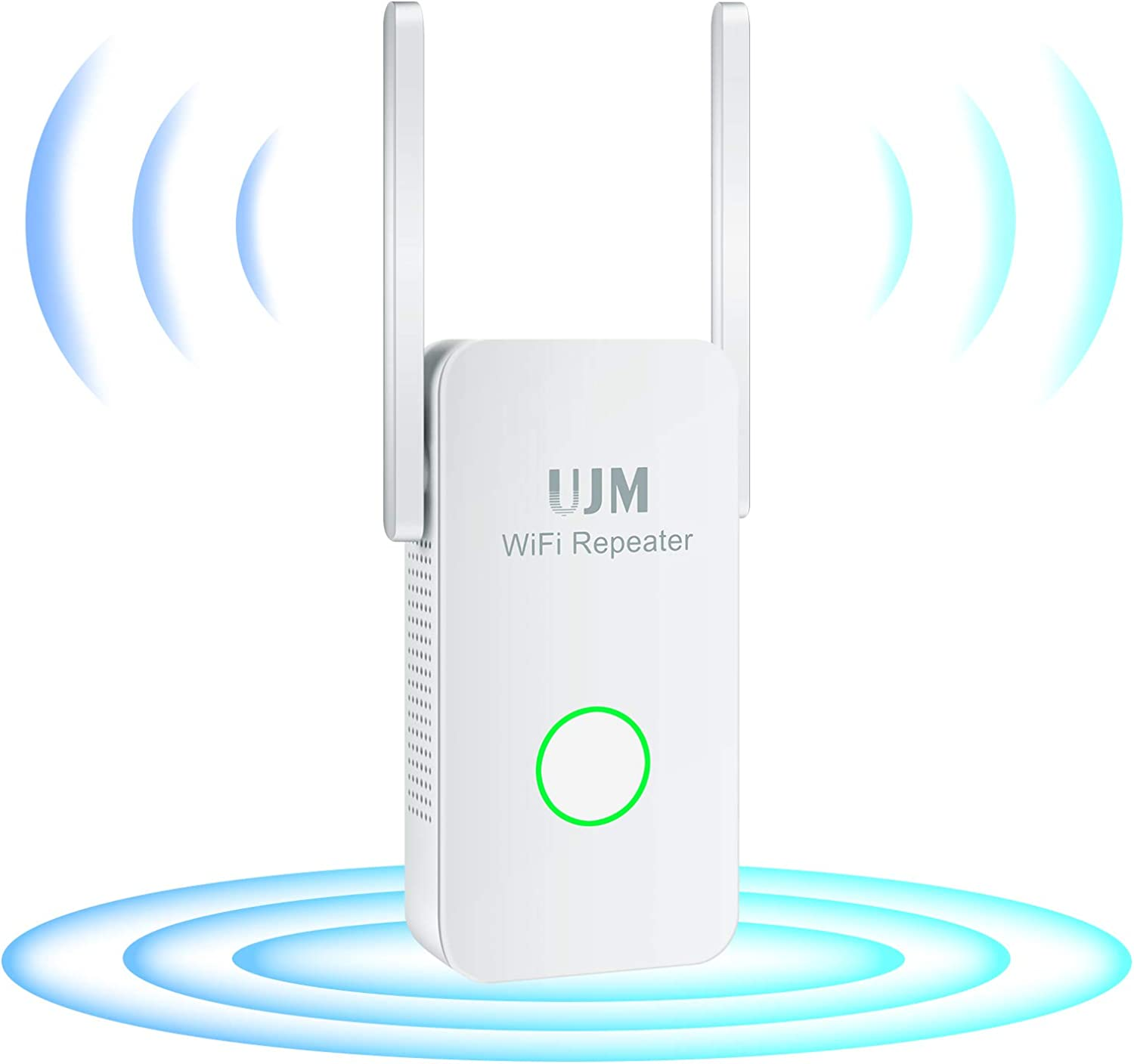 UJM WiFi Extender 1200Mbps, WiFi Extenders Signal Booster for Home, WiFi Booster 2.4 & 5GHz Dual Band,WiFi Extender with Ethernet Port, 360 Degree Wireless Signal Booster WiFi Repeater Easy Set Up