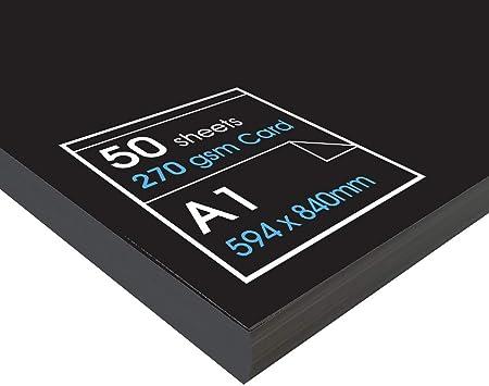 A2-50 Blatt Gr/ö/ße A1 A2 /& A3 Schwarz Artway Recycelter Karton 270 g//m/²