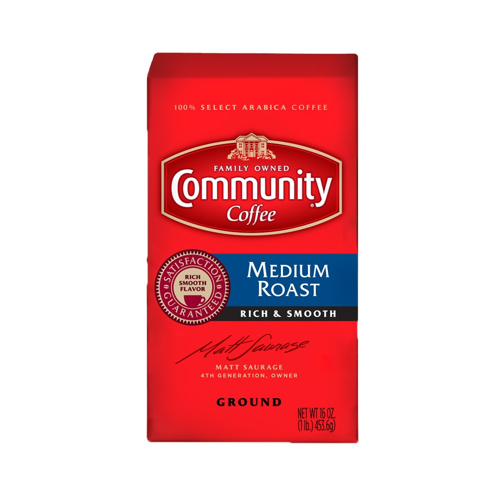 Community Coffee Premium Ground Coffee, Medium Roast, 16 oz., 10 Count by Community Coffee