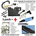 Credit Card Multitool Pocket Tool Kit Wallet Tool with Upgrade 18-IN-1 Credit Card Tool,11-IN-1 EDC Multitool Card,Folding Card Knife By I-LIFE (3 Kinds / set EDC Knife) from ISPANDY