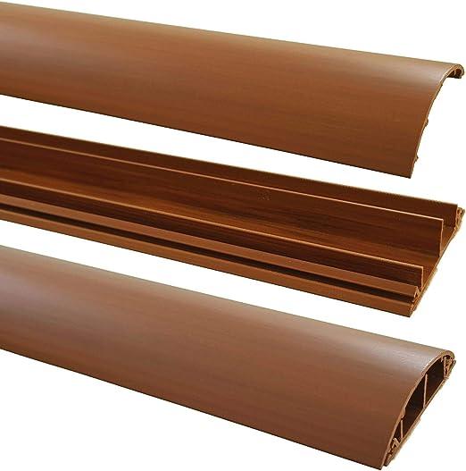 Farbe Kabelkanal:Dunkelbraun Meliert 1m Fu/ßboden Kabelkanal PVC oder ALU selbstklebend in verschiedenen Breiten Gr/ö/ße Kabelkanal:70mm