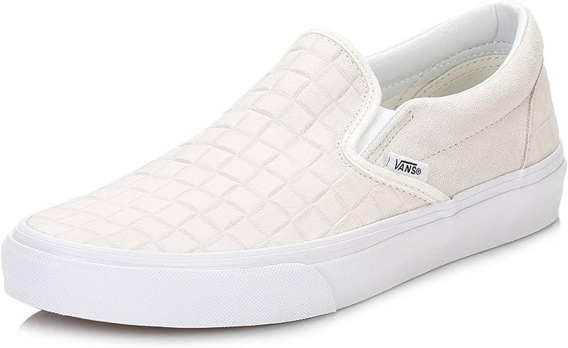 Vans Mens Suede Checkers Slip-On Sneaker