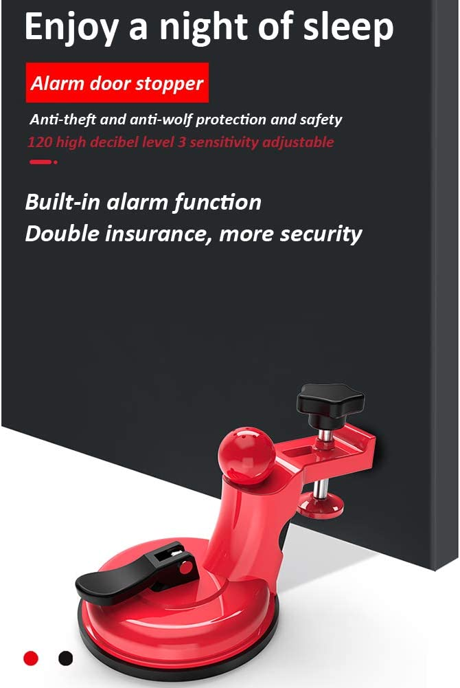 Apartment Or Dorm Intruder Alert Detection with 120 Db Siren for Inside Opening//Outside Opening Door Hotel Mini Wireless Door Stop Alarm for Home