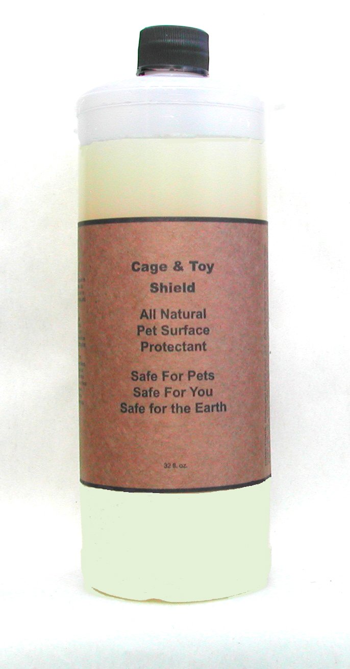 Natural Non-Stick, Habitat Surface Spray: Cage & Toy Shield with Odor Prevention for Birds, Dogs, Cats & Small Animals (32 Ounce)