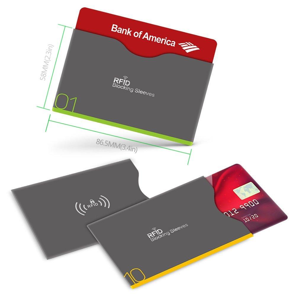 Aerb RFID Blocking Sleeves, Set of 16 (12 Credit Card Holders & 4 ...