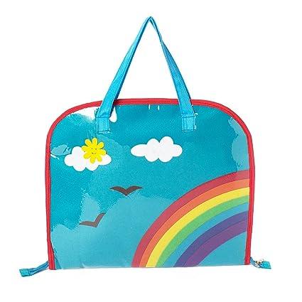 0bb3a8ce948 Li ll Pumpkins Plastic Aqua Rainbow Drawing Bag  Amazon.in  Bags, Wallets    Luggage