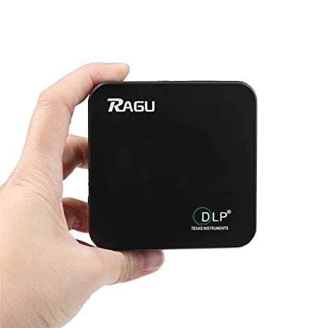 DLP Proyector, Ragu E05 Full HD 1080P WIFI Proyector DLP Android Mini Portatil Recargable Bluetooth Multimedia Cine para Movil / Infantil / Gaming / ...
