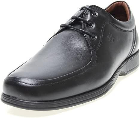 Zapatos Pitillos 4001 - Blucher Piel Negro Hombre, Color Negro ...