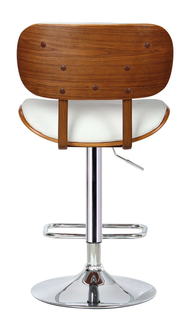 Amazon.com: Boraam 99431 Smuk Adjustable Swivel Stool, White: Kitchen U0026  Dining