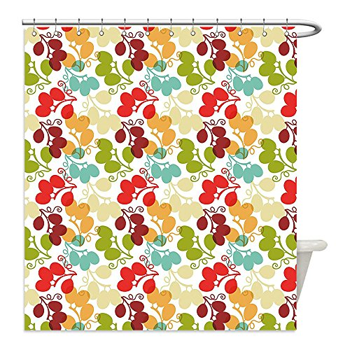 Bunch Of Grapes Costume Ideas (Liguo88 Custom Waterproof Bathroom Shower Curtain Polyester Grapes Home Decor Mix of Swirled Bunch of Grapes Icon Kid Theme Sweet Blend Exotic Flavor Design Multi Decorative bathroom)