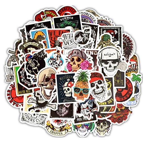 (YaptheS Piece of 50 Graffiti Sticker Skull Stickers Pack for Laptops Cars Moto Bicycles Luggage Graffiti Skateboard Stickers Hippie Decals Bomb Waterproof Do Not Repeat Taro Package Good)