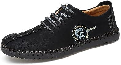 TALLA 43.5 EU. Phefee Zapatos de hombre de cuero Hombre Negocio Vestir Espacio de trabajo Cuero Partido Oxfords Zapatos Mocasines Zapatos casuales Zapatos bajos de bandas