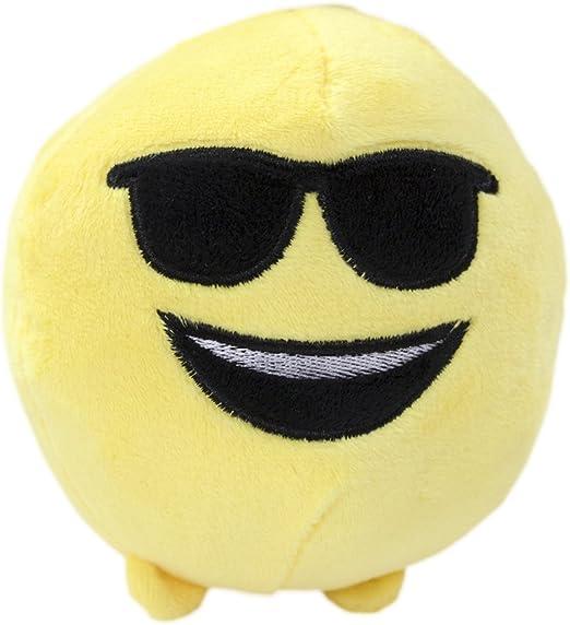 peluche imoji 33874 Small Ball Shape Doll CDU jaune 11 cm
