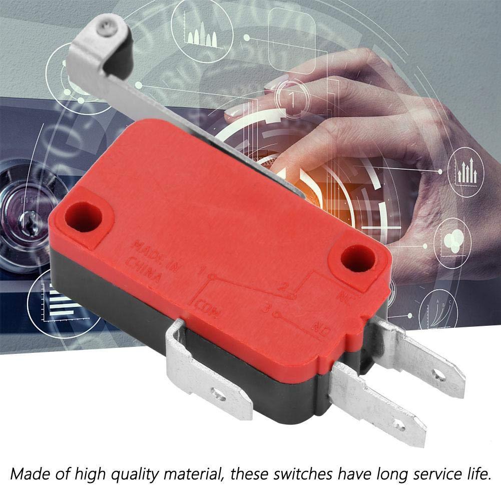 贝BM-156-1C28 10 Unids Interruptor de l/ímite micro,250VAC 15A y 250VDC 0.3A y 125V 0.6A Interruptor de l/ímite moment/áneo micro Acci/ón instant/ánea