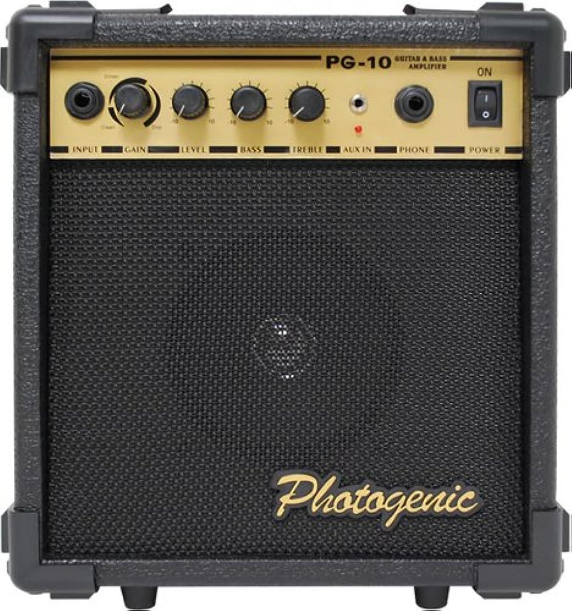 [해외] PHOTOGENIC 포토제닉 기타 베이스 겸용 앰프 오버 드라이어이브 기능 첨부 와 PG10