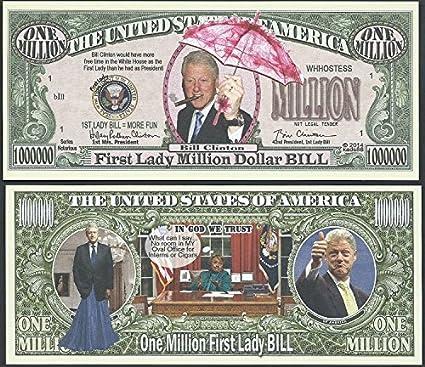 HILLARY RODHAM CLINTON FOR PRESIDENT 2016 MILLION DOLLAR BILL-MONEY ITEM-L!