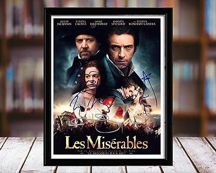 Amazon com: Les Miserables Cast Autograph Replica Print