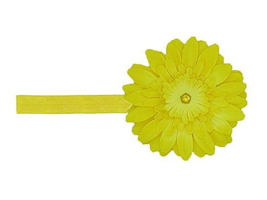 c4420ce7793 Jamie Rae Hats- Yellow Flowerette Burst Headband with Yellow Daisy ...