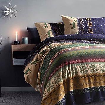 Cunguang Doppel Farben Weihnachten Rentier Winter Baumwolle