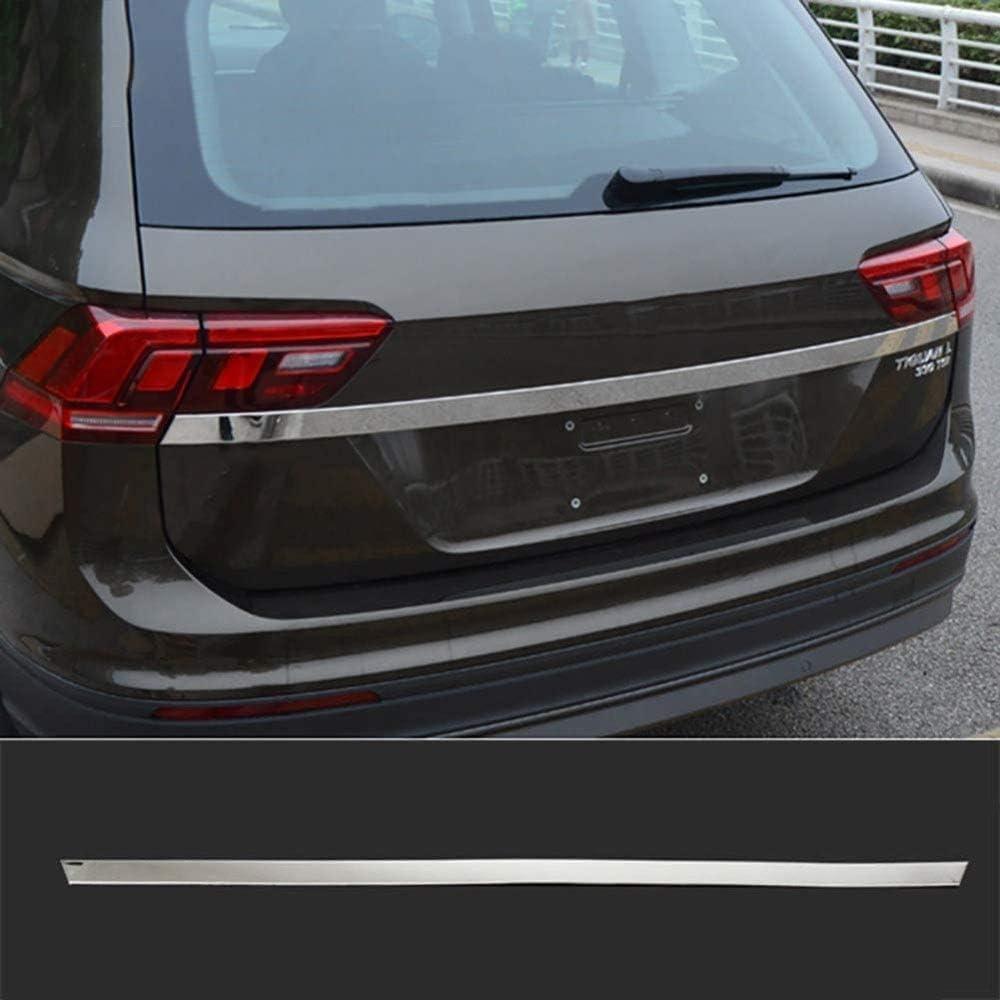 WEUN Chrome Coffre Arri/ère HayonPorte Poign/ée Couvercle Queue Porte Lumi/ère Lampe Garniture Lunette Moulure Garniture Fit pour VW Tiguan L MK2 2017 2018