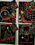 Christmas Wrapping Paper & Bags 26 Piece Glow in the Dark When U Turn the Lights Off (Background color on bags is Black)