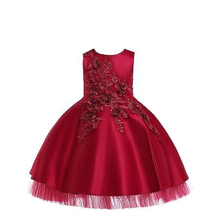 QZ Vestidos para niñas Diseño de Vestido de niña de Flores Falda ...