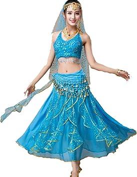 ZYLL FaldasBelly Dance Disfraz De Carnaval De Halloween + Falda + ...