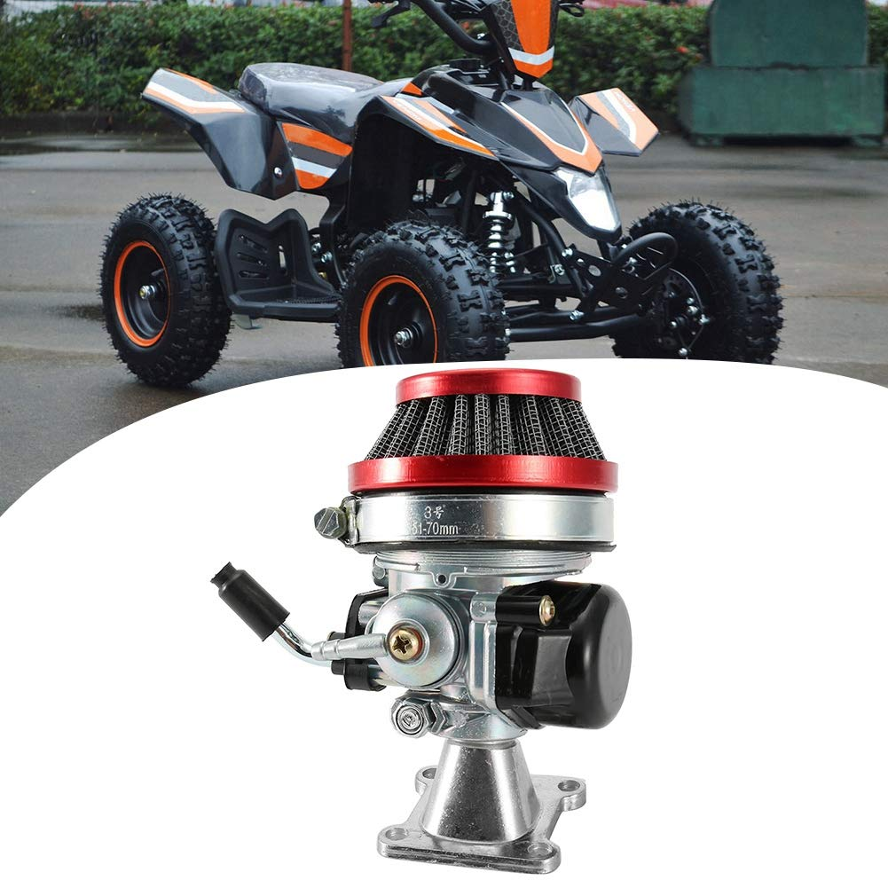 Qiilu 2-Takt Vergaser Luftfilter Gaszug f/ür General Pocket Bike ATV 49cc