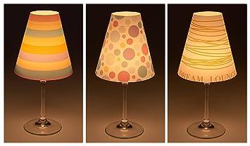 Cuadros Lifestyle Candle Lights Lampenschirme Fur Weinglaser Deko