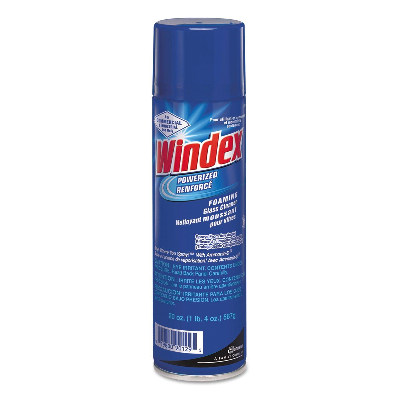 Windex 682276 Powerized Formula Glass & Surface Cleaner, 20oz Aerosol (Case of 12) by Windex