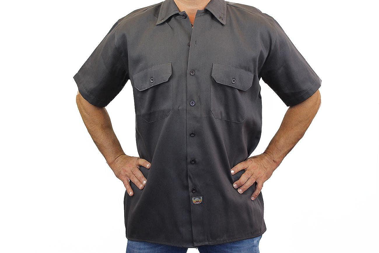Mens Mechanic Work Shirt All American Speed Shop Grey Medium