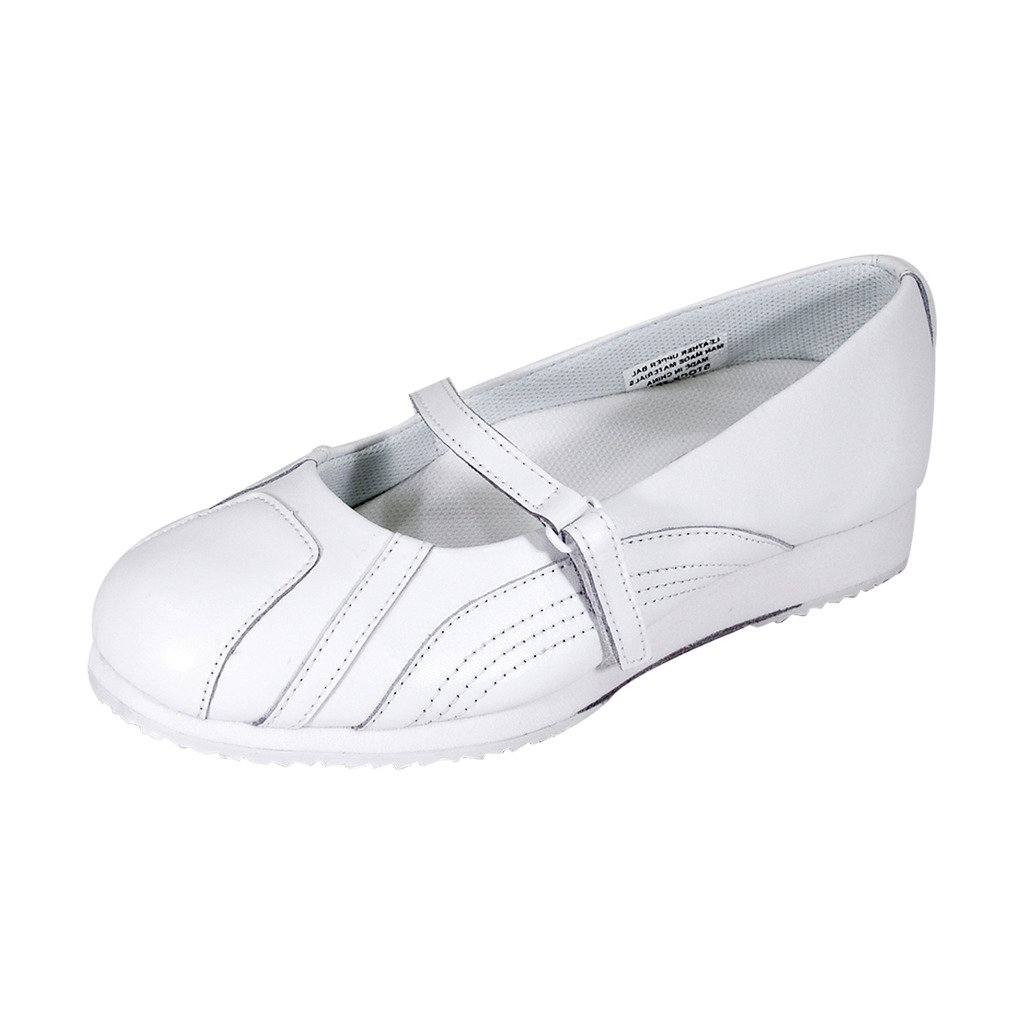 24 Hour Comfort  Victoria (2034) Women Extra Wide Width Slip On Shoes White 8.5
