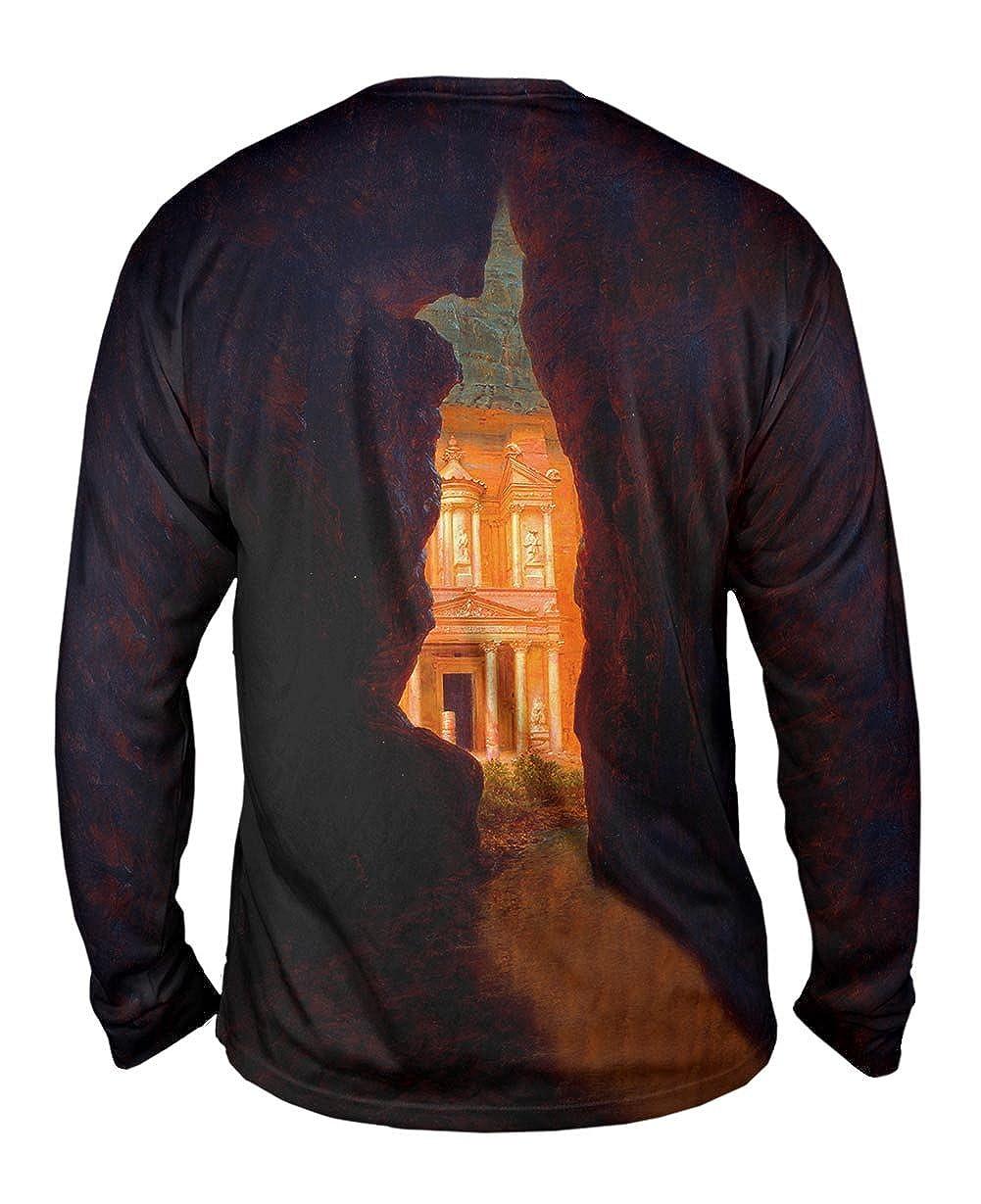 Church Petra 1874 -TShirt- Mens Long Sleeve Yizzam- Frederic Edwin