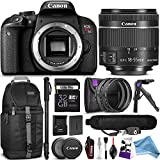 Canon EOS Rebel T7i DSLR Camera with 18-55mm Lens w/ Advanced DigitalAndMore Photo and Travel Bundle