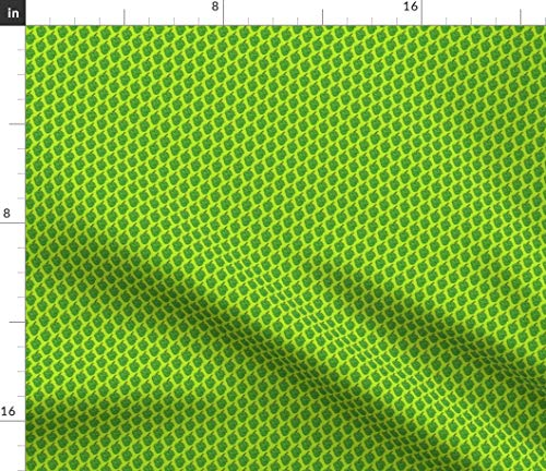 Hops Fabric - Fabric Beer Food Plant Tiny Green Lime Home Decor Brewing Flowers IPA Ale Lager Print on Fabric by The Yard - Sport Lycra for Swimwear Performance Leggings Apparel Fashion