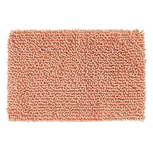 mDesign Soft Microfiber Polyester Non-Slip Rectangular Spa Mat, Plush Water Absorbent Accent Rug for Bathroom Vanity, Bathtub/Shower, Machine Washable - 30