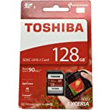 TOSHIBA 東芝 EXCERIA N302 128GB UHS-I SDXCカード 海外パッケージ THN-N302R1280A4 [並行輸入品]