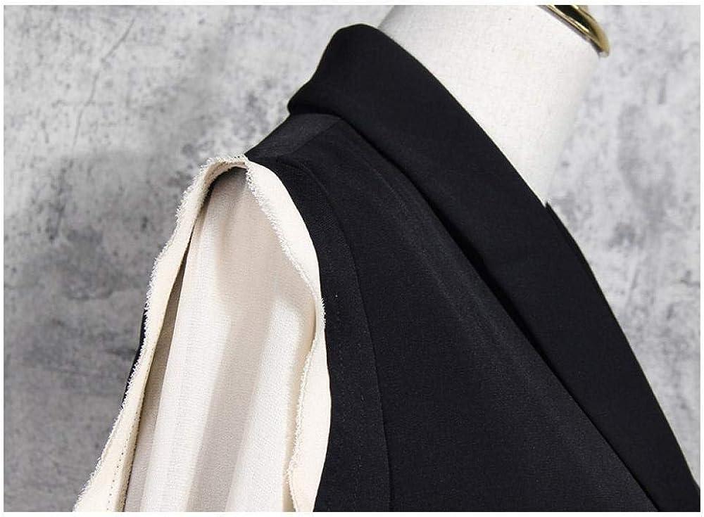 Womens Suit Coat Medium Long Coat Single Breasted Belt Elastic Function Hepburn Style Versatile