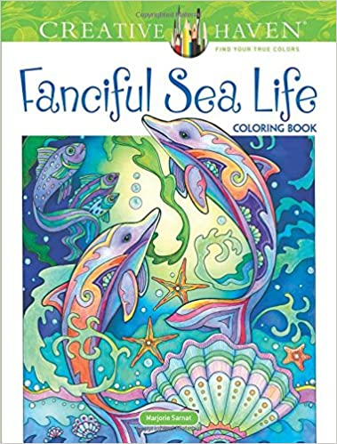 Amazon Creative Haven Fanciful Sea Life Coloring Book Adult 9780486818580 Marjorie Sarnat Books