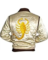 Urbanoutfitters Drive Ryan Gosling Driver Embroidered Scorpion Satin Ivory Jacket