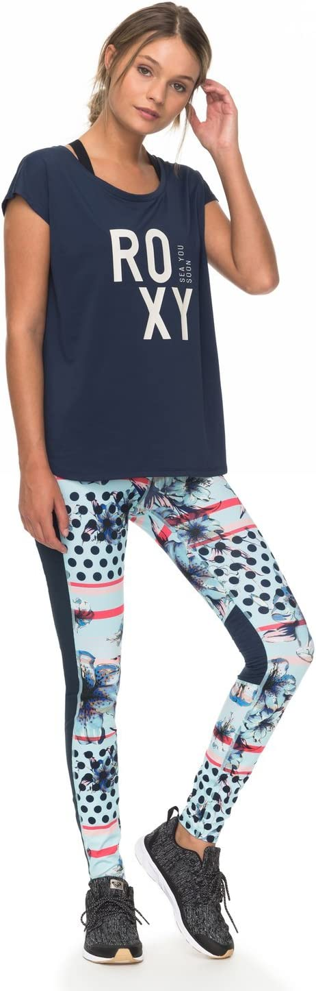 Roxy Pari Walk T-Shirt Technique /à Petites Manches Femme