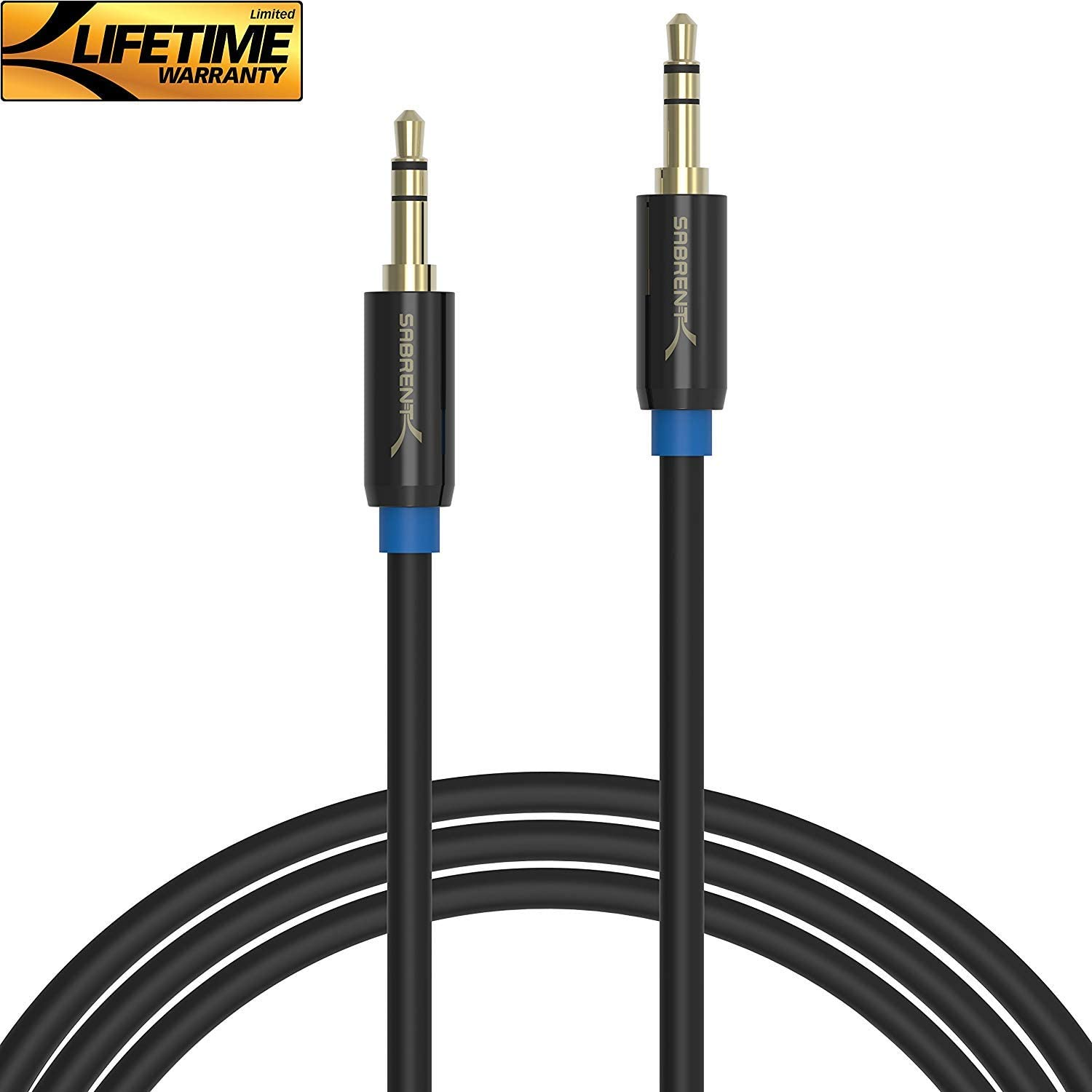 Sabrent 3.5mm Male-to-Male Aux Cable