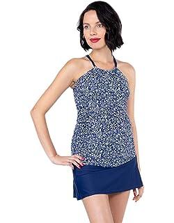 7cc85297ec18c OceanlilyHalter Maternity Bathing Suit-Pregnancy Swimsuits-Maternity  Tankini TOP